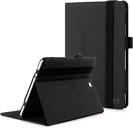 FYY Samsung Galaxy Tab S2 9.7 Case - Premium Leather Case Stand Cover with Card Slots, Note Holder, Elastic Strap for Samsung Galaxy Tab S2 9.7 inch Black (with Auto Wake/Sleep)