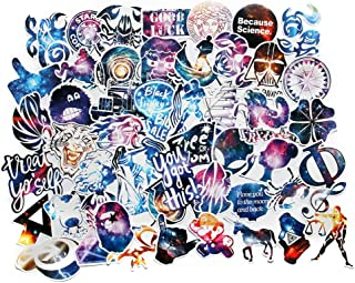 Car Stickers Pack 100pcs FNGEEN Harajuku Galaxy Laptop Stickers Bomb Motorcycle Bicycle Luggage Decal Graffiti Patches Skateboard Stickers for Laptop (100pcs)