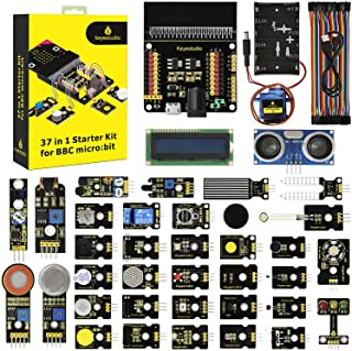 KEYESTUDIO 37 Sensors in 1 Box Starter Kit for BBC Micro bit with Tutorial (Without Microbit Board), Microbit Sensor Kit A...