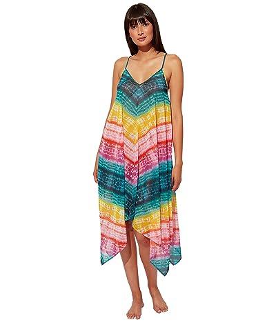 Bleu Rod Beattie Good Vibrations Chiffon Handkerchief Hem Dress Cover-Up Women