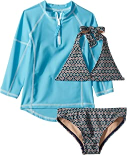 Toobydoo Amazon Bikini & Rashguard Set (Infant/Toddler/Little Kids/Big Kids)