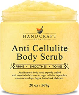 Handcraft Cellulite Treatment Body Scrub - Huge 20 oz - All Natural Ingredients – Penetrates Skin, Targets Unwanted Fat and Improves Skin Firmness