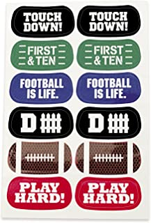 Fun Express Football Face Tattoos - 6 Sheets