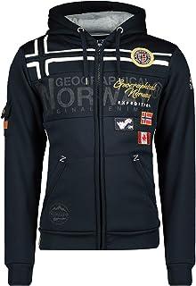 Geographical Norway GARADOCK Men - Sudadera con Cremallera para Hombre - Sudadera Hoodie De Algodón para Hombre - Sudadera...