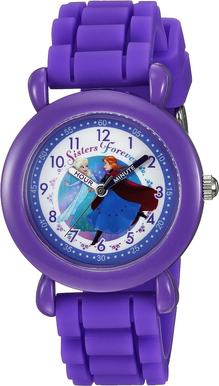 DISNEY Girls' Frozen Finally popular brand Analog-Quartz online shopping Watch Silicone Strap with Pu