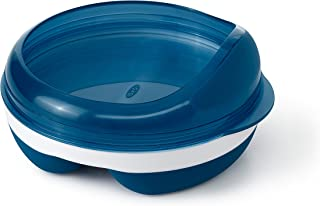 OXO Tot Divided Feeding Dish with Removable Ring Navy