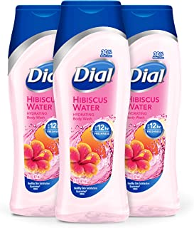 Dial Body Wash, Hibiscus Water with Up to 12 Hours of Freshness, 21 Fluid Ounces (Count of 3)