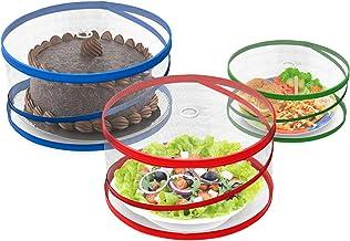 أغطية طعام يمكن فتحها في الهواء الطلق من شيف بادي (مجموعة من 3)، متعددة الألوان