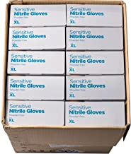 Eagle Protect Sensitive Nitrile Gloves High Quality Food Prep Non Latex Gloves Disposable Tactile FDA Compliant Food Handling Powder Free Accelerator Free Textured Fingertip Indigo Case 1000 XL