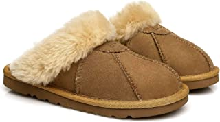 UGG Slippers Robert Australian Sheepskin Wool Winter Home Cozy Slipper Shoes for Women Men