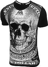 Baxboy JA-2310 Vintage T-shirt met doodshoofd met ...