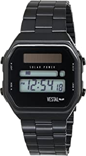 ساعة فيستال للرجال SYNDM01 Syncratic Solar Power Digital Display Japanese Quartz سوداء