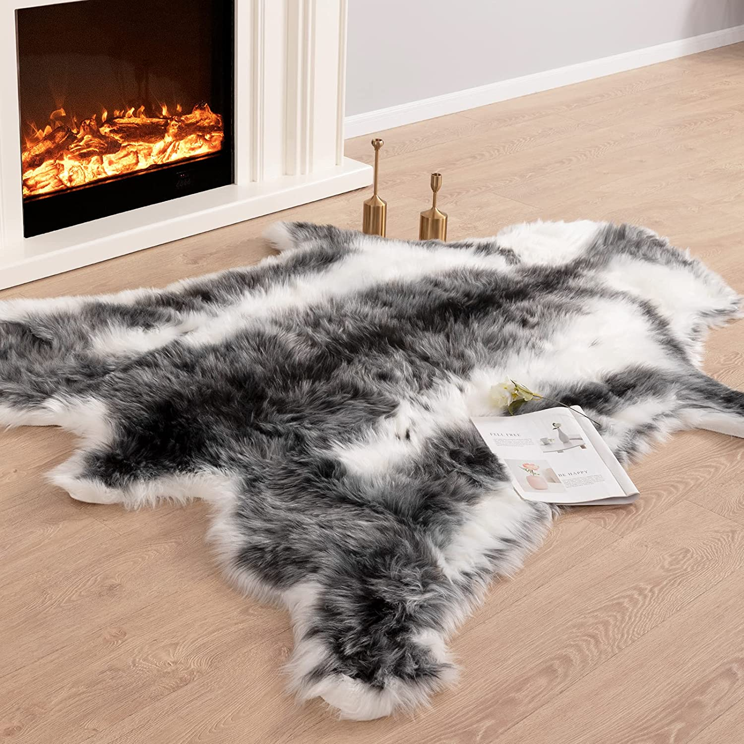 Carvapet Soft Fur Year-end annual account Rugs Fake Reindeer Hide Rug Fluffy Ranking TOP14 F Faux Area