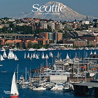 Seattle 2019 12 x 12 Inch Monthly Square Wall Calendar, USA United States of America Washington Pacific West Coast City (English, French and Spanish Edition)