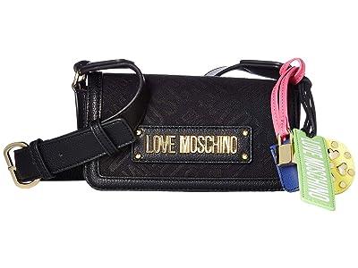 LOVE Moschino Jacquard Crossbody Bag (Black) Handbags