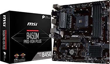 MSI ProSeries AMD Ryzen 1st and 2ND Gen AM4 M.2 USB 3 DDR4 D-Sub DVI HDMI Micro-ATX Motherboard (B450M PRO-VDH Plus)