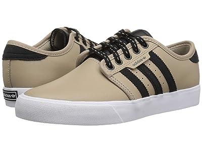 adidas Skateboarding Seeley J (Little Kid/Big Kid) (Trace Khaki/Black/White) Skate Shoes