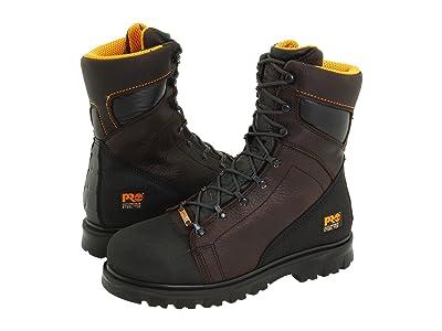 Timberland PRO Rigmaster 8 Waterproof Steel Toe (Dark Brown/Black) Men