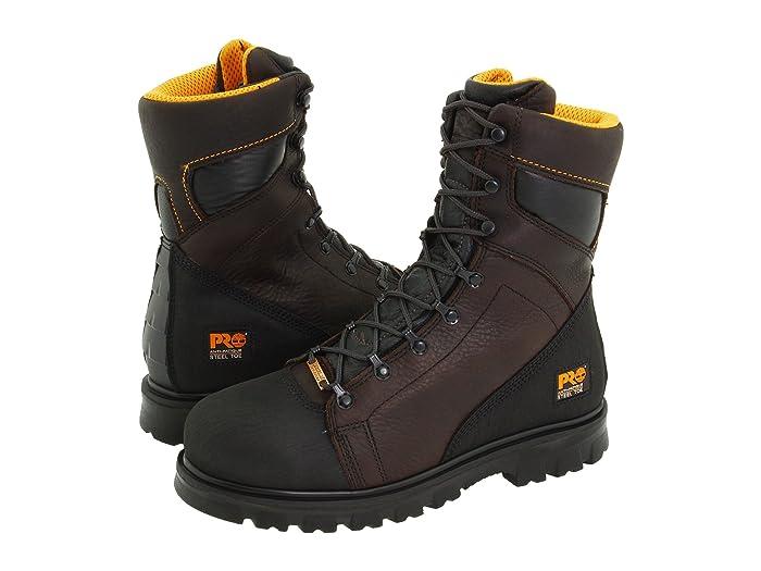 Timberland PRO  Rigmaster 8 Waterproof Steel Toe (Dark Brown/Black) Mens Work Lace-up Boots