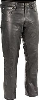 Milwaukee Leather Men's Premium Leather Pants (Black, Size 38) (S)