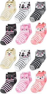 Little Girls 12 Pack Shorty Socks