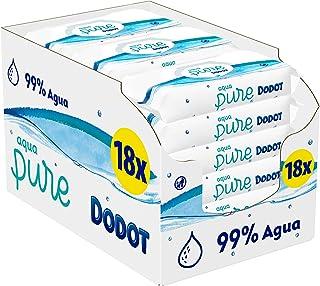 Dodot Aqua Pure babyvåtservetter med 99 % vatten, 18 förpackningar, 864 våtservetter