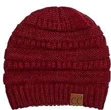 C.C Women`s Thick Soft Knit Beanie Cap Hat