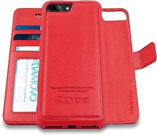 AMOVO Case for iPhone 8 Plus [2 in 1], iPhone 8 Plus Wallet Case [Detachable Folio] Premium Vegan Leather Case for iPhone 8 Plus/iPhone 7 Plus/iPhone 6 Plus (iPhone 8 Plus/7 Plus/6 Plus (5.5
