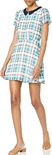 Lucca Couture womens Peter Pan Collar Plaid Dress Peter Pan Collar Plaid Dress