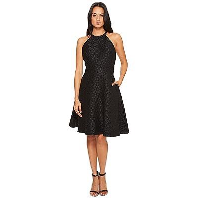 Badgley Mischka Halter Bow Dress (Black) Women