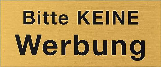 """Metafranc Kleefbord """"Bitte nicht Reclabung"""" - 60 x 25 mm - van aluminium - in klassieke messing-look - zelfklevende achter..."""
