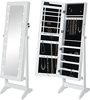 mirror with storage and lights