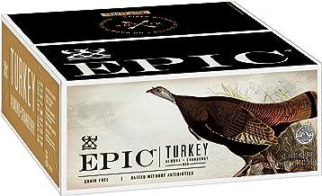 EPIC Turkey Almond Cranberry Protein Bars, Whole30, 12 Count Box 1.5oz bars