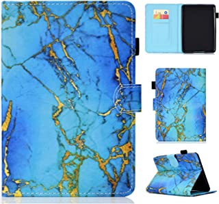 UUcovers Kindle Paperwhite Case Prior to 2018, Auto Wake/Sleep Thinnest PU Leather Case with Stand Cash Holder-Blue Marble