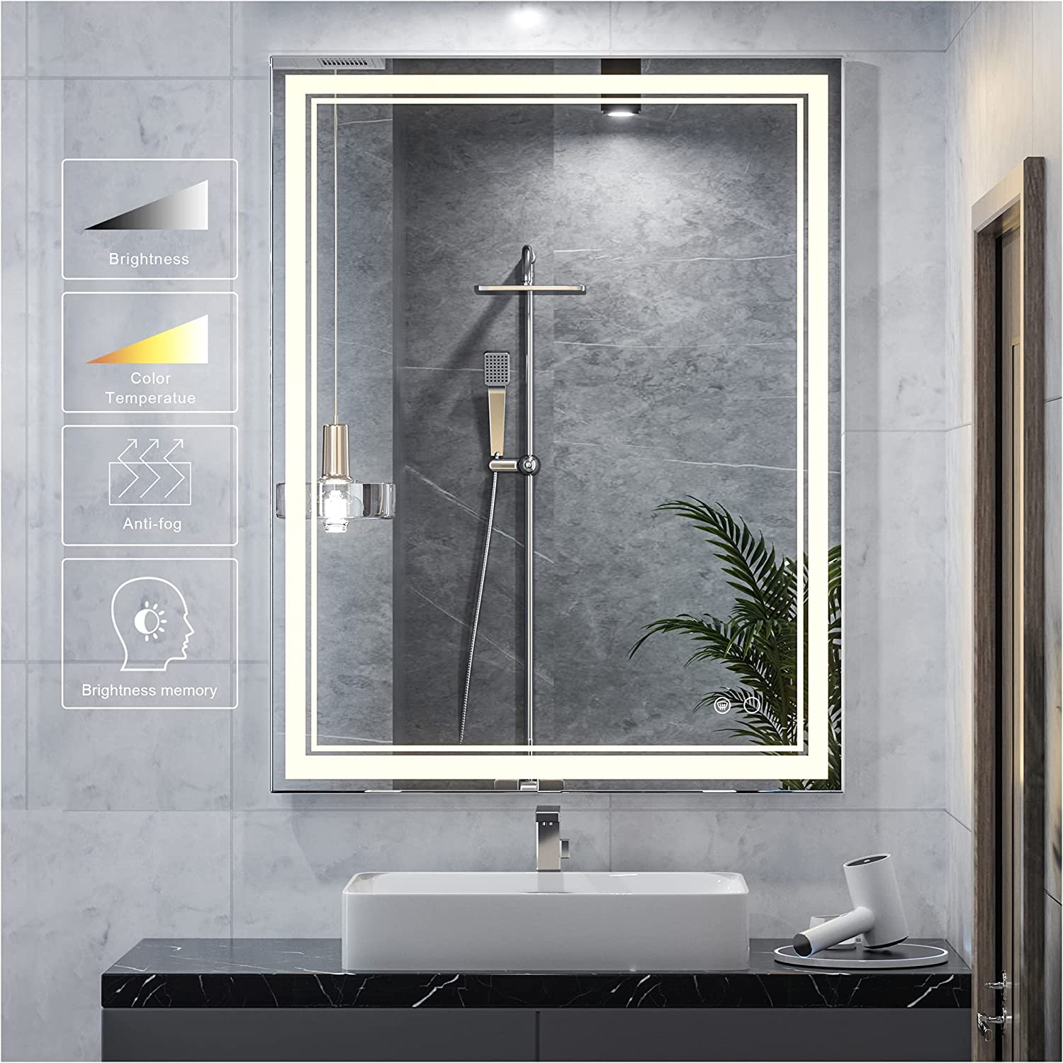 Keonjinn Finally resale Ranking TOP15 start 36 x 28 Inch LED with Mirror Lights Bathroom LE