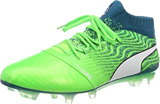 Puma One 18.1 FG Football Boots Soccer Shoes green/blue/white 104527-06, EU Shoe Size:42 EU