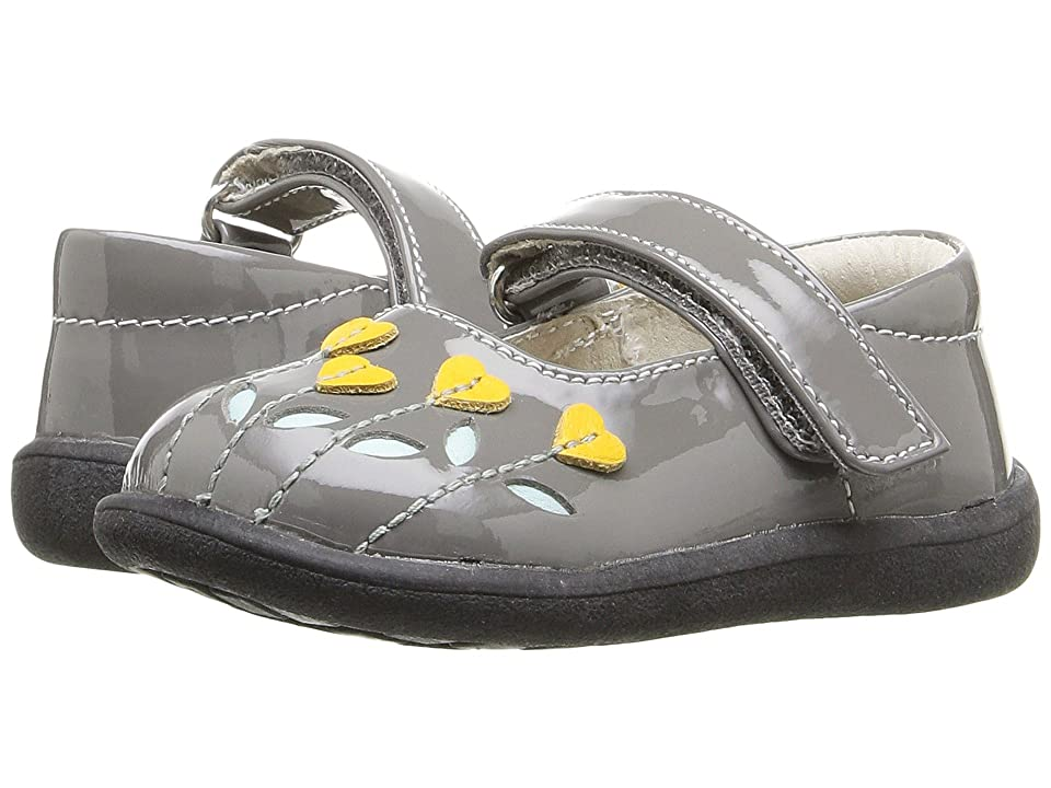 See Kai Run Kids Tricia (Toddler) (Gray Patent/Yellow) Girl