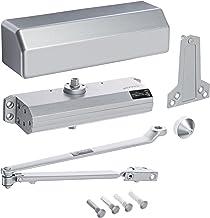 Hager 5300 Series Aluminum Grade 1 Heavy Duty Surface Door Closer, Multi-Mount, 1–6 Adjustable Spring Size, Sprayed Aluminum Finish