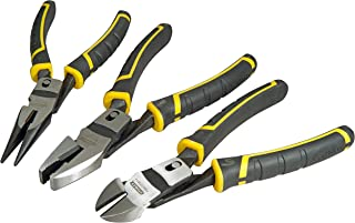 Stanley FMHT0-72415 Compound Action Pliers, Black/Yellow, Set of 3 Piece
