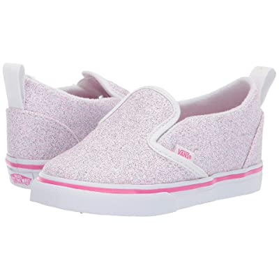 Vans Kids Slip-On V (Toddler) ((Glitter Stars) Black/True White) Girl