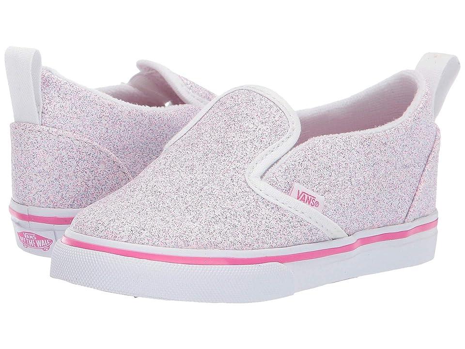 Vans Kids Slip-On V (Toddler) ((Glitter Stars) Black/True White) Girl