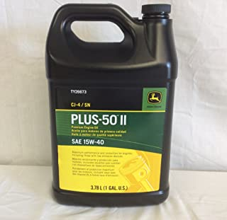 John Deere Original Equipment 1 Gallon Plus-50 II SAE 15W-40 Oil #TY26673