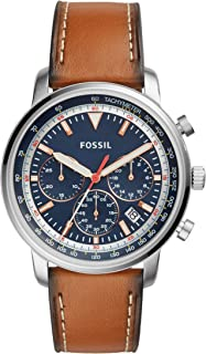 Fossil Men's Quartz Watch, Chronograph Display and Leather Strap FS5414