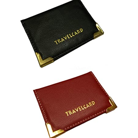 BUS PASS / LEATHER TRAVEL CARD HOLDER - by velson