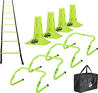 Pro Footwork Agility Ladder and Hurdle Training Set with...