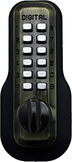 Digital Door Lock M210 Mechanical Keyless Deadbolt, Antique Brass
