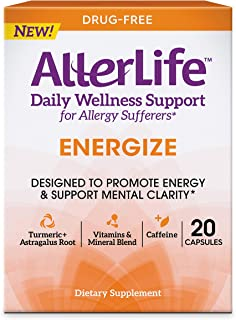 Allerlife Energize Capsules, Daily Allergy Supplements and Energy Support, 20 Count