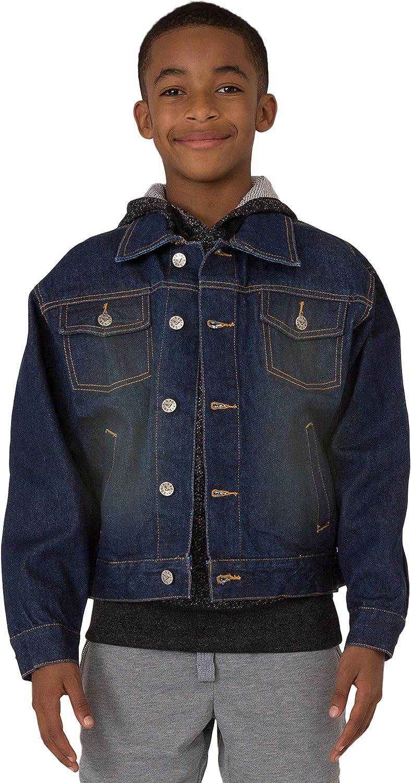 1 year warranty Vibes Boy's Price reduction 14.5 oz Indigo Denim Dark W Sandblast Jacket Trucker