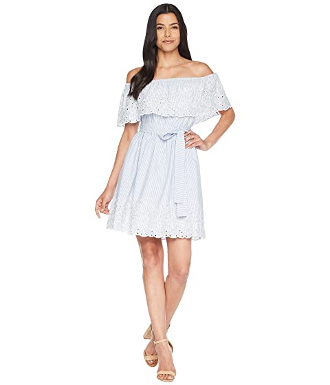 CeCe Off the Shoulder Dress w/ Embroidered Edge Bluebird Footlocker Pictures Cheap Online Cheap Sale With Mastercard With Paypal Sale Online Free Shipping Clearance u7RPLwEA