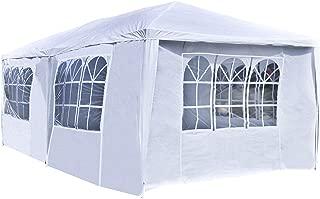ALEKO APT20X10GAZEBO Outdoor Event Canopy Tent Shelter Wedding Party 20 x 10 x 8.5 Feet White